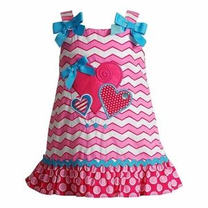 Youngland Pink Heart Applique Dress size 12 months